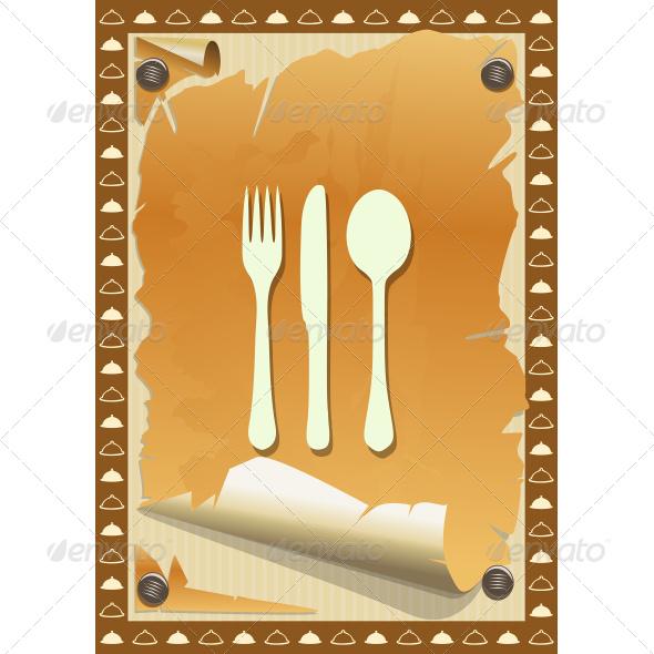 GraphicRiver Restaurant Card Vintage Torn Design 7496833