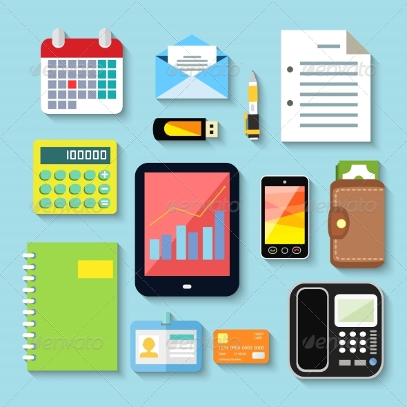 GraphicRiver Business Items and Mobile Devices 7496962