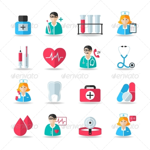 GraphicRiver Medical Healthcare Icons Set 7496977