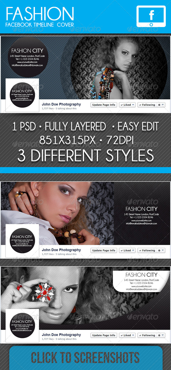 GraphicRiver Fashion Facebook Timeline Cover 7497005