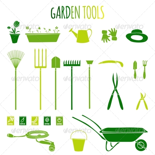 GraphicRiver Garden Tools Icons Set 7497008