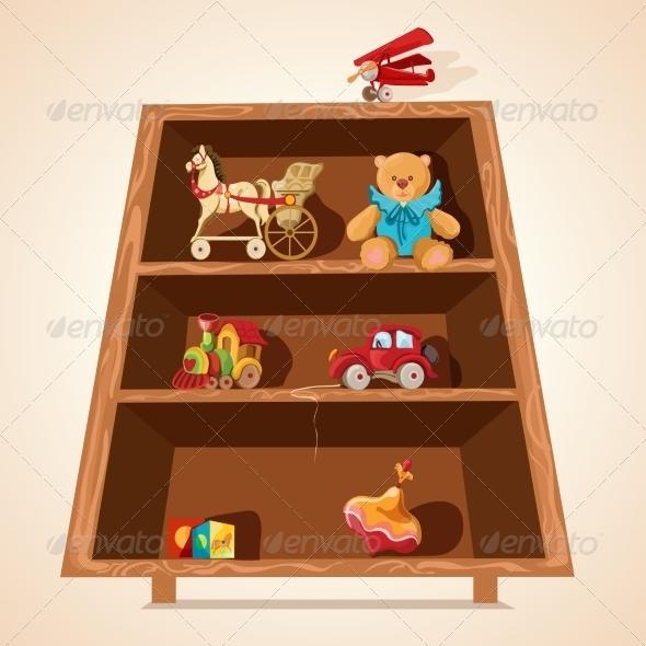 GraphicRiver Toys on Shelves Print 7497017