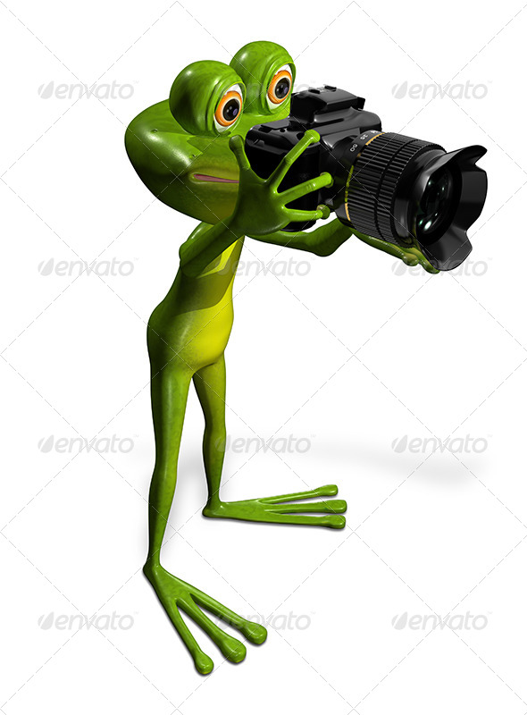 GraphicRiver Frog with a Camera 7497089