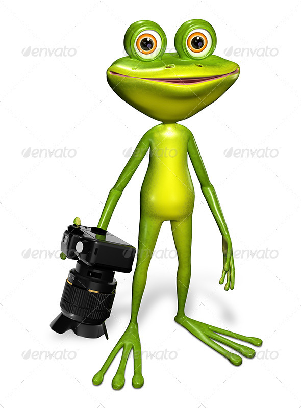 GraphicRiver Frog with a Camera 7497104