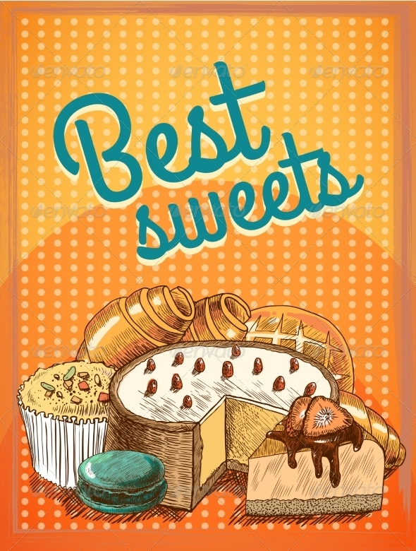 GraphicRiver Pastry Poster 7497127