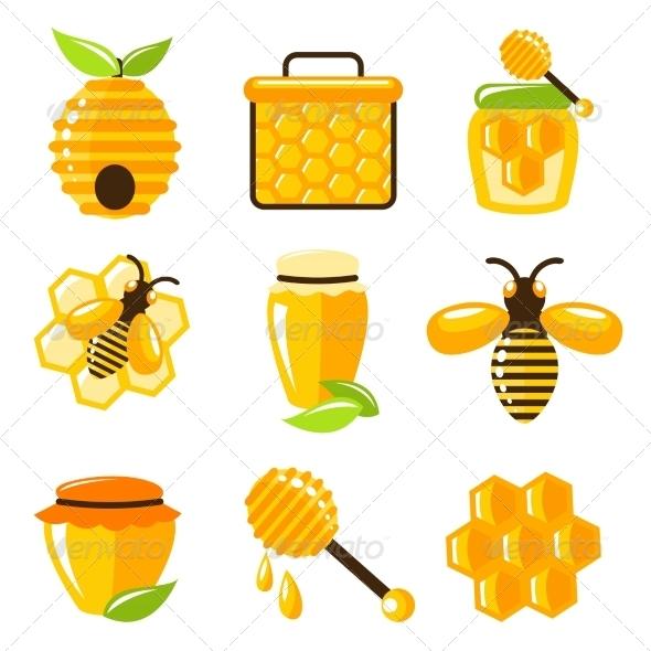 GraphicRiver Honey Icons Set 7497150