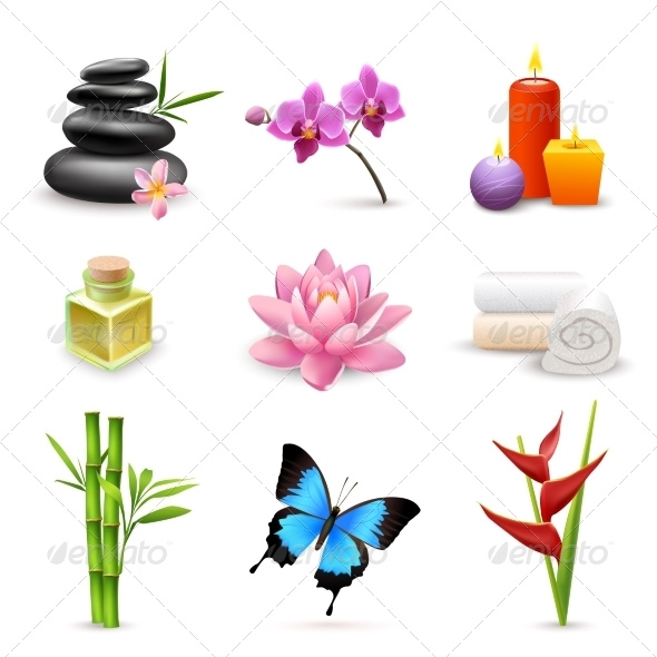 GraphicRiver Realistic Spa Icons 7497157