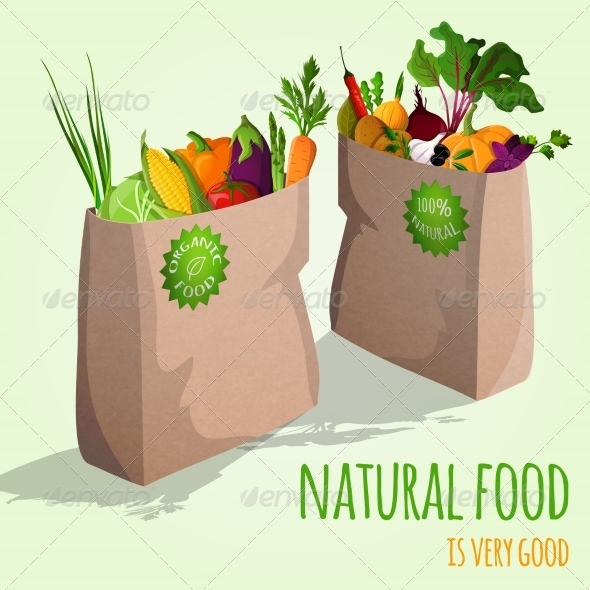 GraphicRiver Vegetables in Bags Concept 7497181