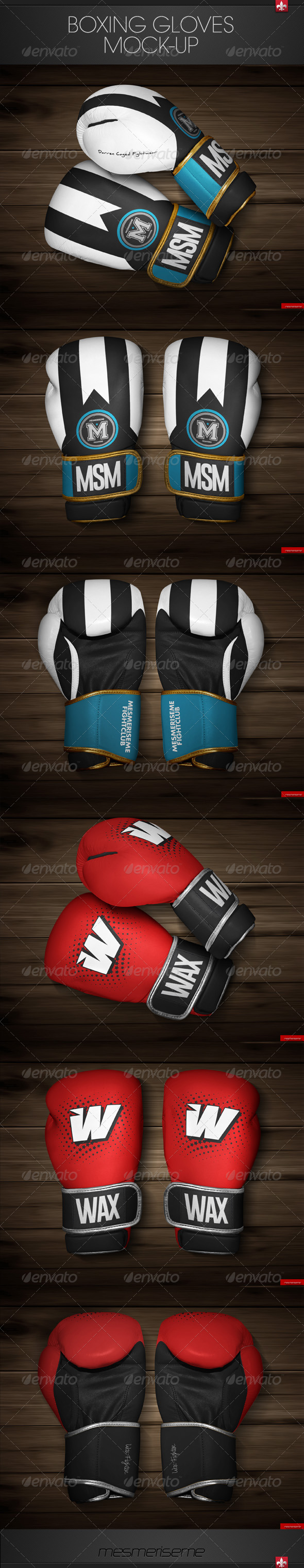 GraphicRiver Boxing Gloves Mock-up 7497199