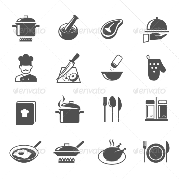 GraphicRiver Cooking Icons Set 7497200