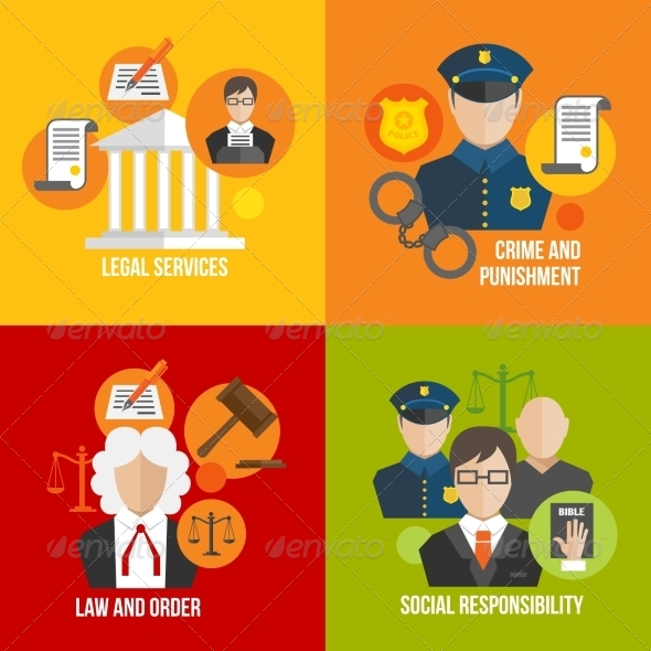 GraphicRiver Law Flat Icons 7497204