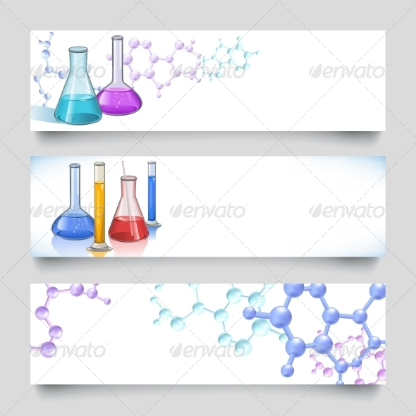 GraphicRiver Chemical Laboratory Banners 7497211