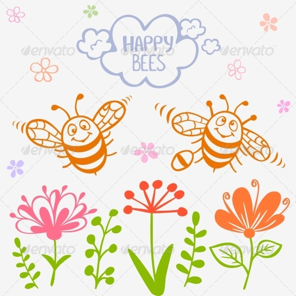 GraphicRiver Bees Two 7497250