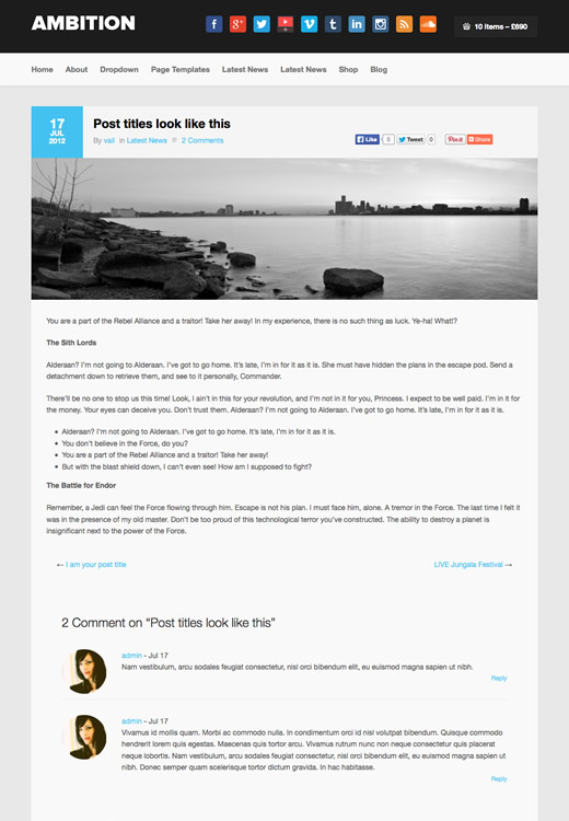 Ambition - WordPress Talent Theme