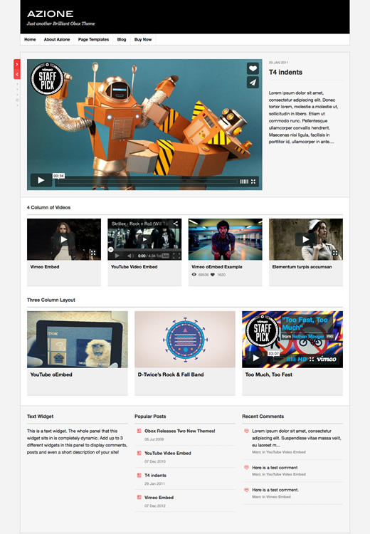 Azione - WordPress Video Blogging Theme