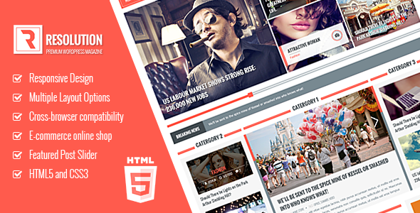 Resolution Responsive HTML5 template