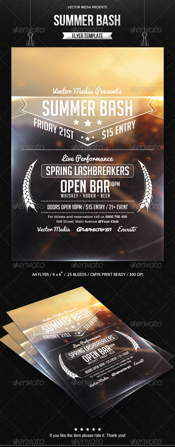 GraphicRiver Summer Bash Flyer 7497716