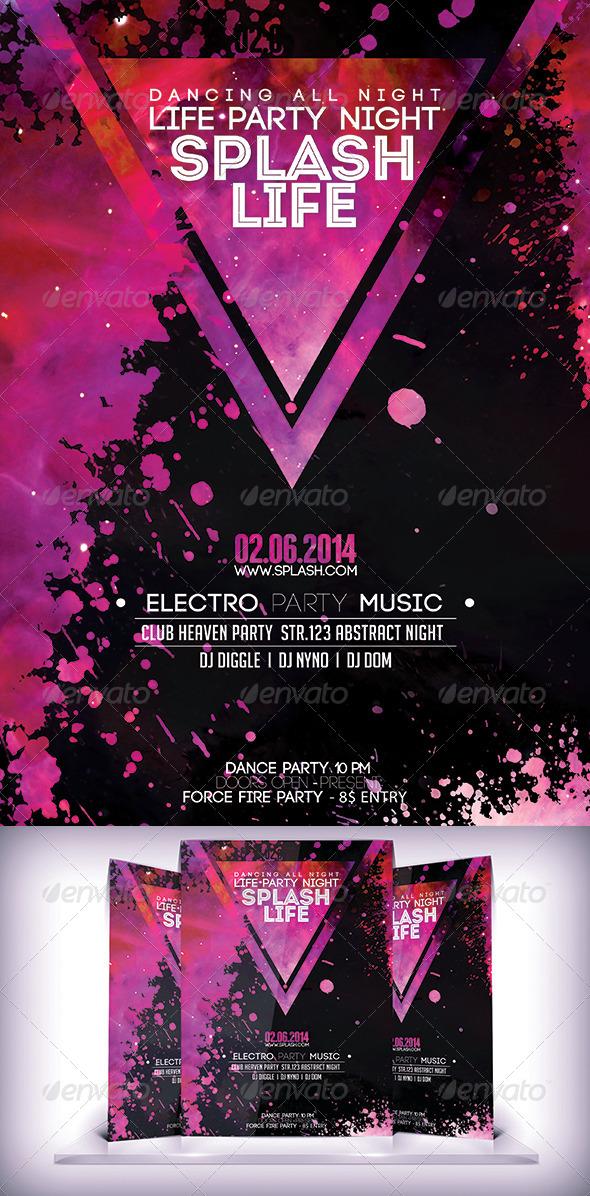 GraphicRiver Splash Party Night Flyer 7497820