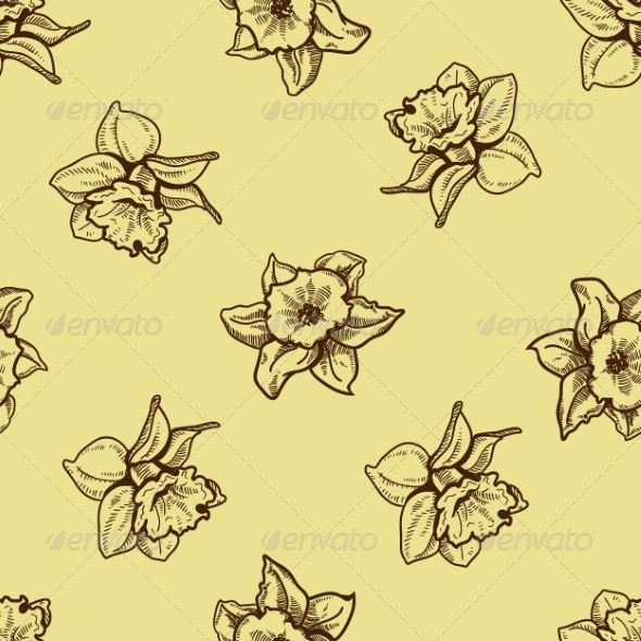 GraphicRiver Seamless Flowers Pattern 7497837