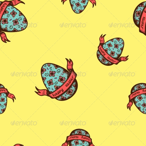GraphicRiver Seamless Easter Pattern 7497840