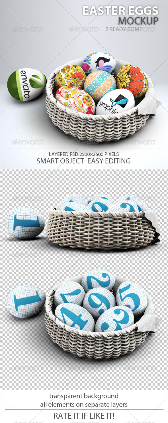 GraphicRiver Easter Eggs Mock-up 7497970