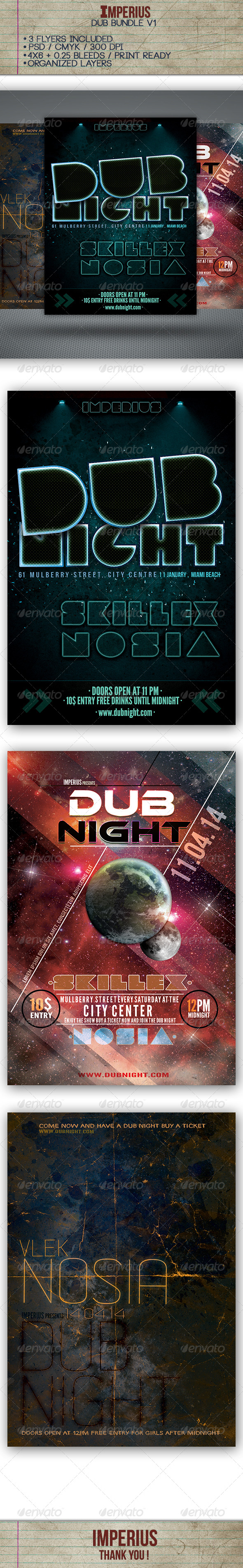 Dub Bundle V1 - Flyers Print Templates
