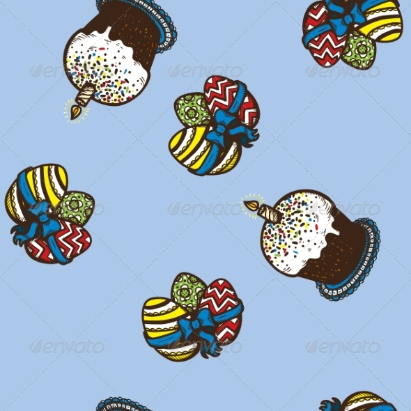 GraphicRiver Seamless Easter Pattern 7498094