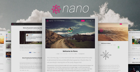 Nano | Minimalist & Highly Customizable WP Blog - Personal Blog / Magazine