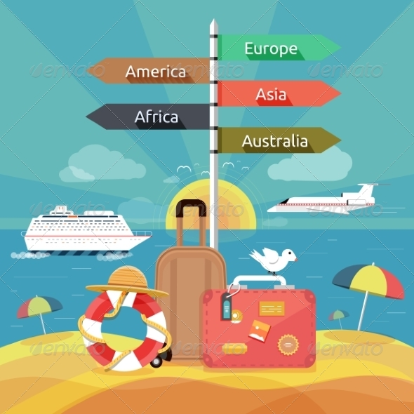 GraphicRiver Traveling and Planning a Summer Vacation 7498641