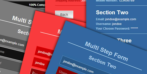 CodeCanyon HTML5 jQuery Multi-Step Form 7498872