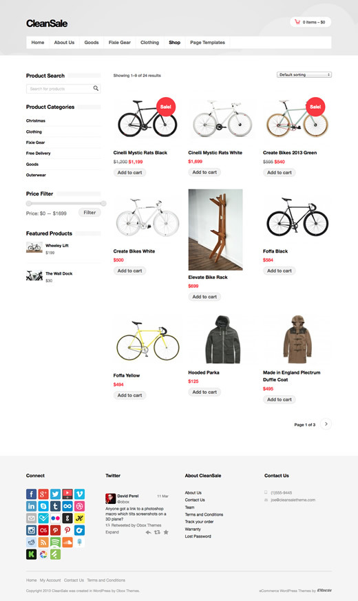 CleanSale - WordPress eCommerce Theme