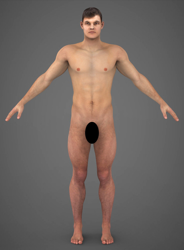 Realistic Young Muscular Man - 3DOcean Item for Sale