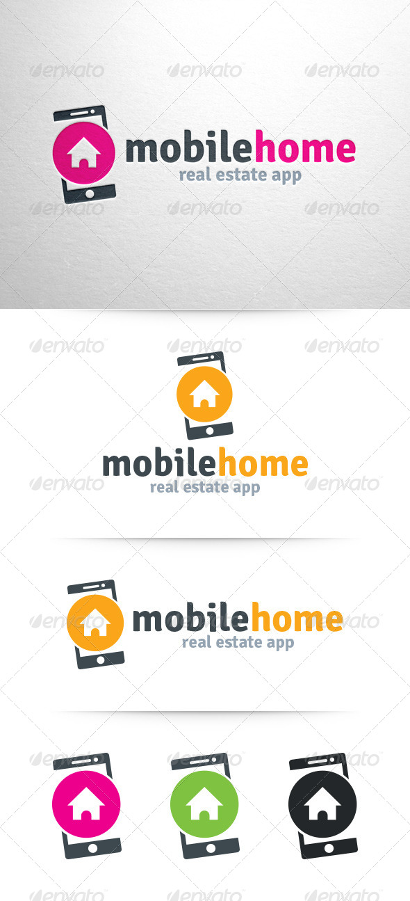 GraphicRiver Mobile Home Logo Template 7498921