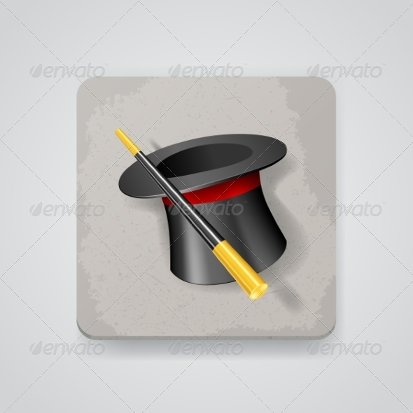 GraphicRiver Magic Hat and Wand 7499119