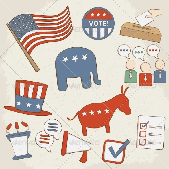 GraphicRiver Election Icons 7499135