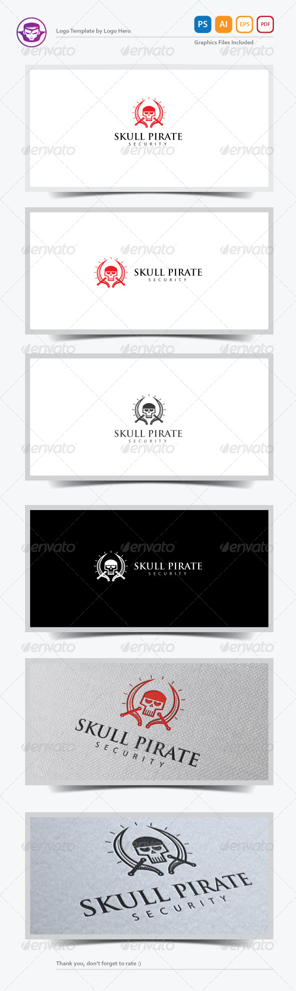 GraphicRiver Skull Pirate Logo Template 7499151
