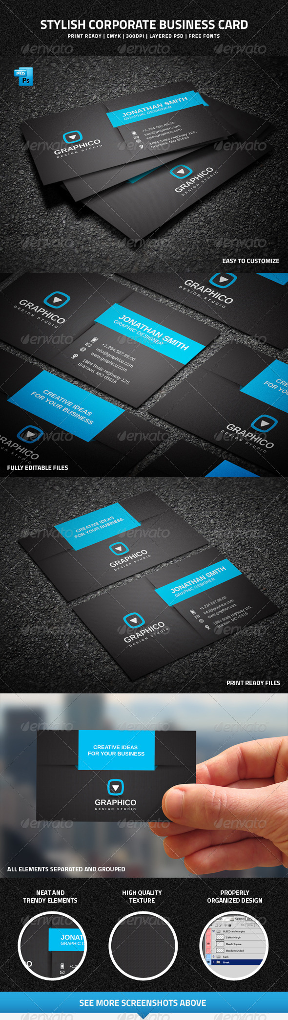 GraphicRiver Stylish Corporate Business Card 7497982
