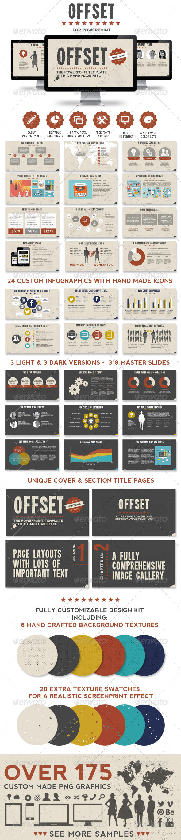 Offset Powerpoint Presentation Template - Creative Powerpoint Templates