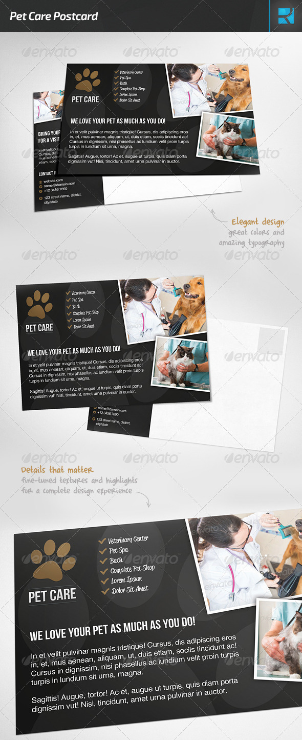Pet Care Postcard