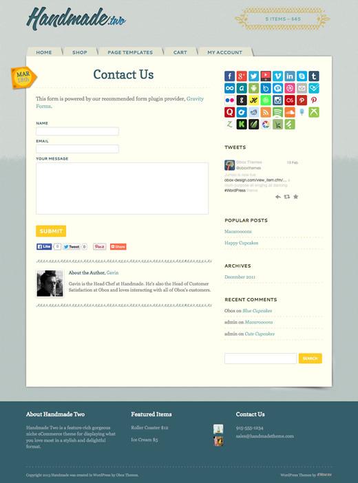 Handmade Two - eCommerce WordPress Theme