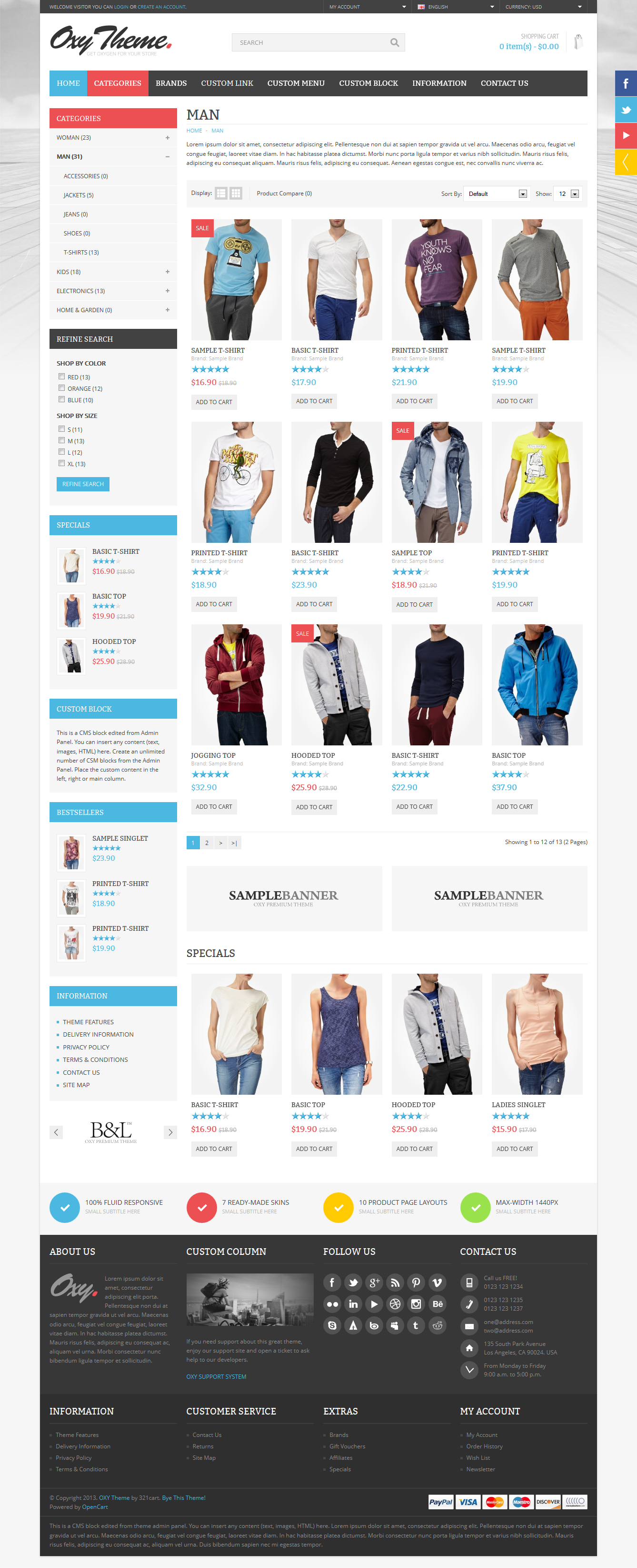 OXY - Multi-Purpose Responsive OpenCart Theme