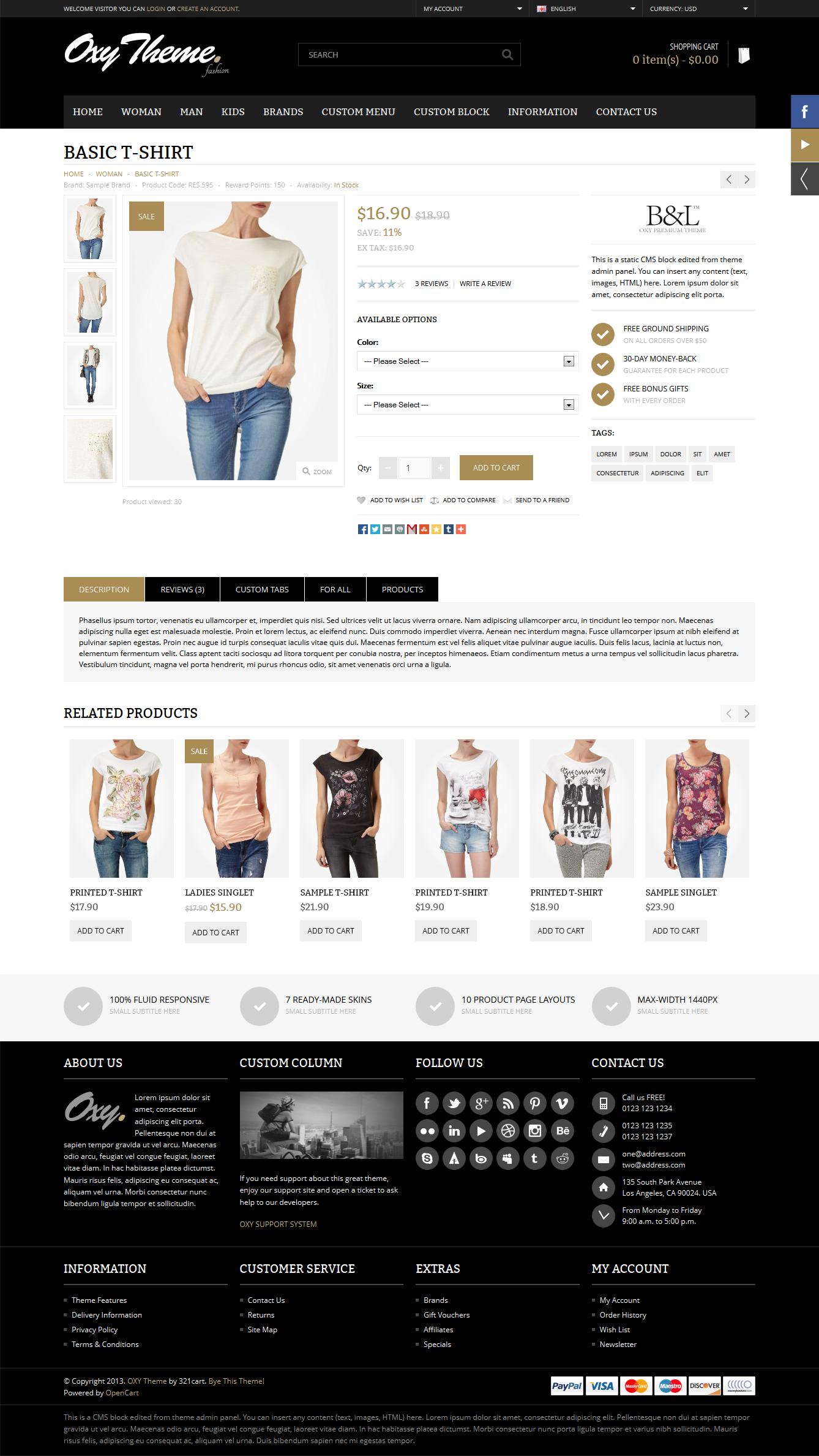 OXY - Multi-Purpose Responsive OpenCart Theme