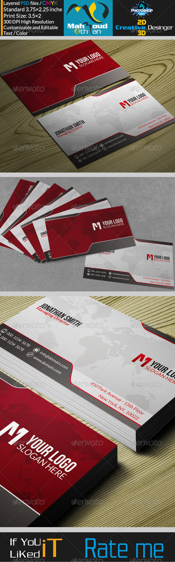 GraphicRiver Corportae Business Card V19 7499293