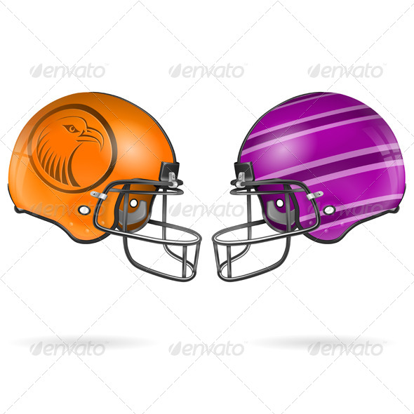 GraphicRiver American Football Helmets 7499310