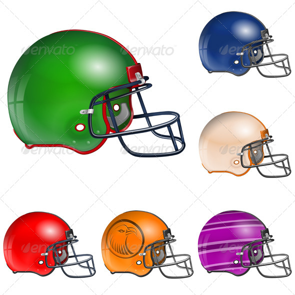 GraphicRiver American Football Helmets 7499315