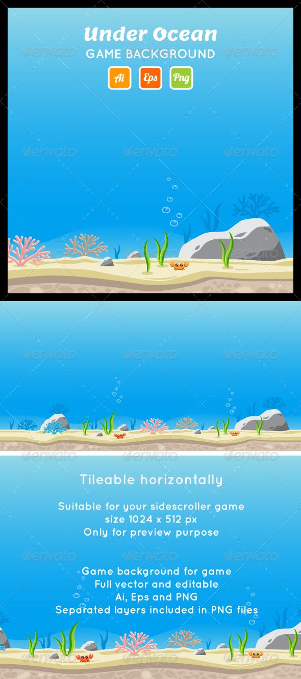 GraphicRiver Under Ocean Game Background 7499319