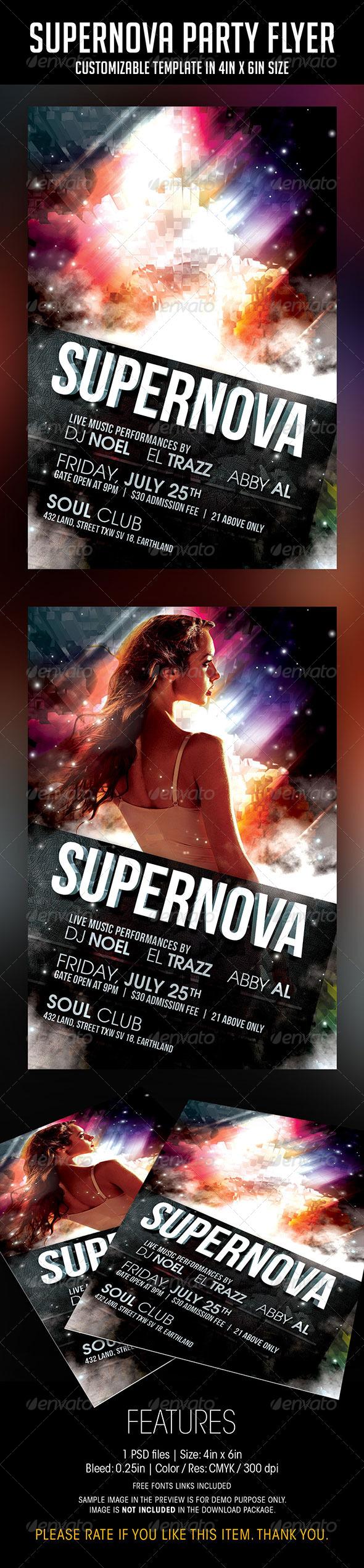 GraphicRiver Supernova Party Flyer 7499517