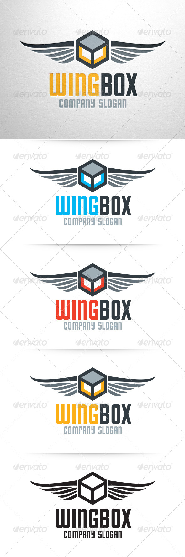 GraphicRiver Wing Box Logo Template 7499569