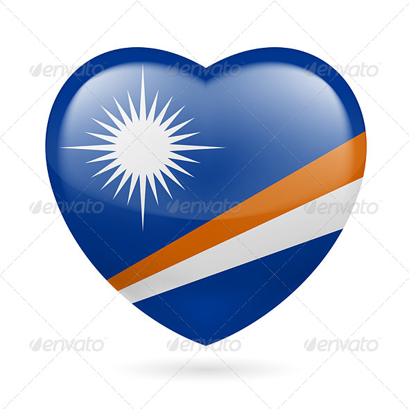 GraphicRiver Heart Icon of Marshall Islands 7499572
