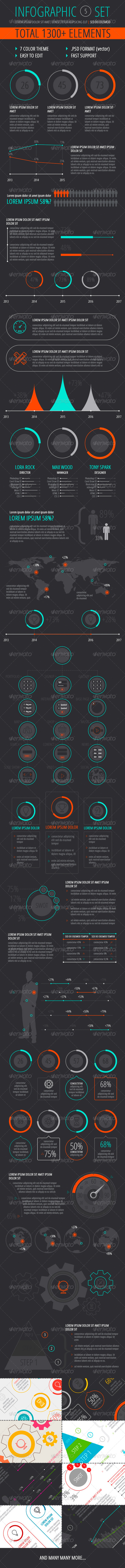 GraphicRiver Infographic Set 5 7499595